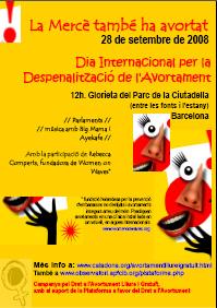 cartell reivindicatiu 28 de setembre, dia internacional per la Despenalitzaci� de l'Avortament - descarregat el pdf del cartell amb tota la informaci�