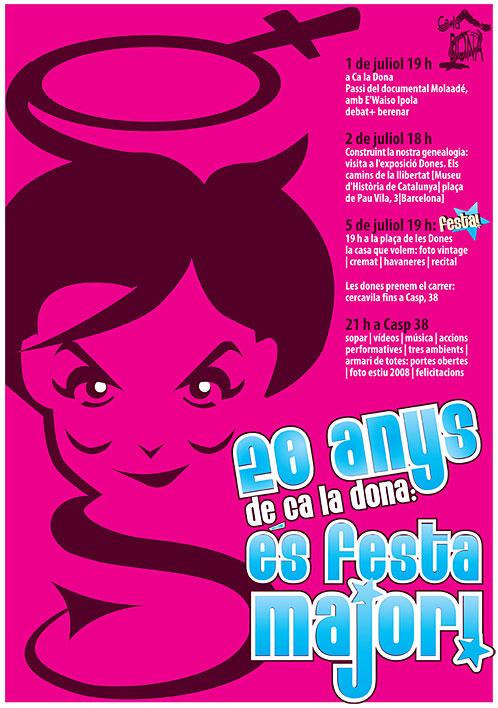 cartell festa major 20 anys Ca la Dona