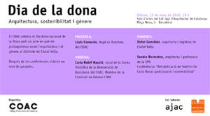 Dia de les dones: arquitectura, sostenibilitat i gènere - 15 de març
