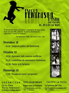 Escola Feminista d'Estiu 2010 – 18, 19 i 20 de juny 2010
