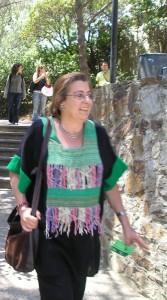 Carolina Costa en un descans a la Trobada de Dones 2006, Llars Mundet, bcn