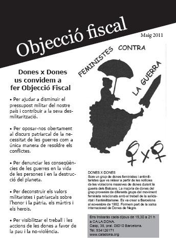 Dones x Dones: Campanya 2011 per l'Objecció Fiscal