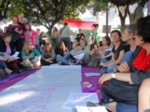 Manifest Feministes Indignades a pl.Catalunya