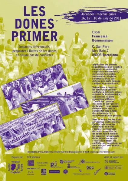 16, 17 i 18 de juny: Les dones primer. Impactes diferencials, propostes i lluites de les dones en situacions de conflicte