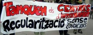 Ca la Dona dóna suport a la Campanya pel tancament dels CIEs de Barcelona
