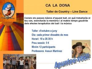 Taller de country-ball en línia (per a sòcies Ca la Dona)
