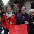 companyes de Dones x Dones a la concentració x gaza bcn