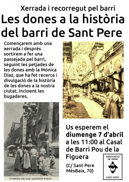 7/04 11h :: les dones a la història del barri de sant Pere, amb Mònica Díaz
