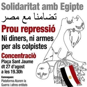 Dones x Dones:27/08 a 19:30h Pl.Sant Jaume Solidaritat amb Egipte