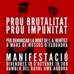 Manifestació 18 d'oct/ Raval/ Prou brutalitat, prou impunitat. Justícia Juán Andrés