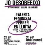 #FebrerenLluita   Convocatòries @dretpropicos   #AlertaFeminista