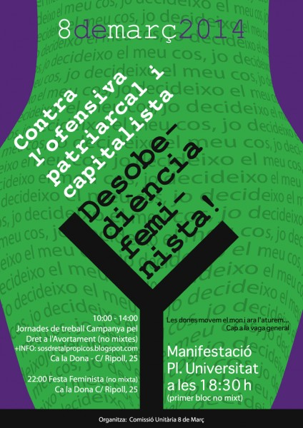 Dia Internacional de les Dones | 8m | Cartell + Manifest