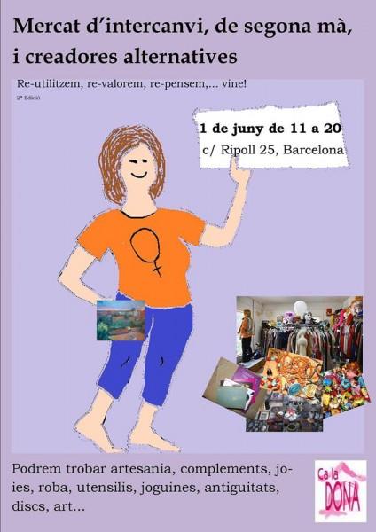Fins el 26/05 per apuntar-te a la llista de paradistes...01|06 diumenge, 2a Fira de Ca la Dona