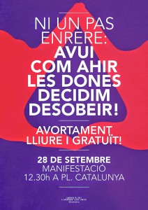 28|09:: MANIFESTACIÓ:: Dia Internacional per la Despenalització de l'Avortament