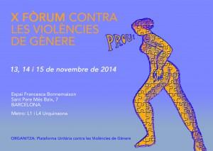 13-15/11:: Fòrum contra les violències de gènere, amb la Campanya pel Dret a l'avortament el 13N, a la Bonne