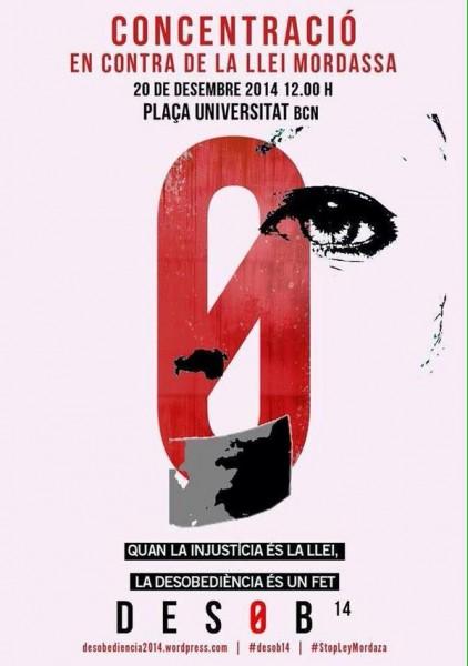 20/12:: Totes al carrer per rebutjar la Llei Mordassa, 12h a Pl.Universitat (a l'Estudiantil)