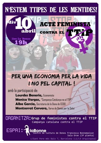 10/04:: Acte Feminista contre el TTIP. N'estem TTIPes de mentides