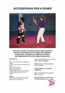 04/05:: Inici del Curs d'Autodefensa per a Dones [nova data]