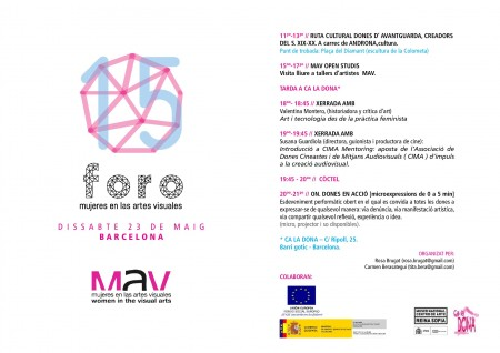 23/05:: 15è Fòrum Dones a les Arts Visuals