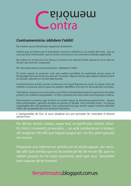 Convocatòria FEMART 2015 - Contramemòria: oblidem l'oblit!