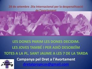 28/09:: Concentració per al dret a l'avortament