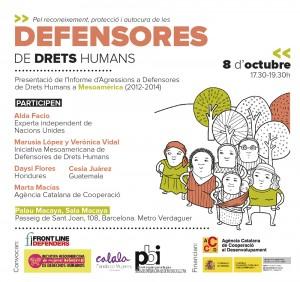 Presentació de l'Informe d'Agressions a Defensores de Drets Humans de Mesoamèrica 2012-2014