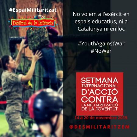 setmana accio contra militaritzacio joventut