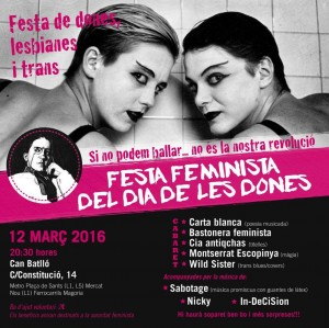 12/03:: Festa Feminista del dia de les Dones