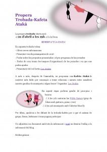 21/04:: Propera Trobada-Kafeta Atakà