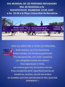 Dia Mundial de les persones refugiades Comunicat de Dones de Negre contra les guerres