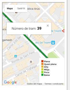 Mapa Trams Diada 2018.Abans Del 10 08 Apunta T Al Tram 39 De La Via A Punt Per