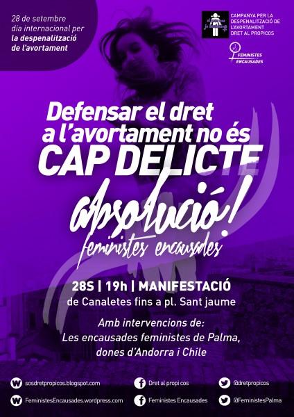 28/09:: Manifestació Canaletes- Per la despenalització total de l'avortament