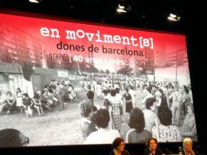 17/01:: Dones en moviment[s]: Taula rodona 'Allò que és personal és polític' amb Mireia Bofill. dones de Barcelona. 40 anys i més. 1976-2016