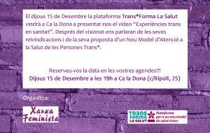 15/12:: Activitat Trans*Forma La Salut