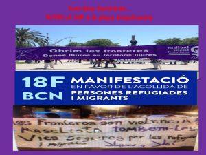 18/02:: Manifestació en favor de l'acollida de persones refugiades i migrants (Casa nostra, casa vostra)