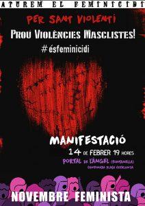 14/02:: Per Sant Violenti- Concentració per dir Prou a les violències masclistes
