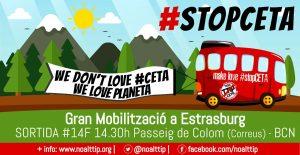 14/02:: Activistes de les campanyes No al TTIP marxen cap a Estrasburg