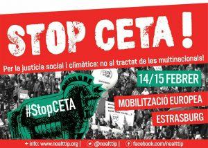 mobilització a Estrasburg No CETA