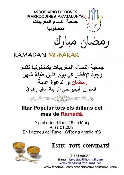 Iftar Popular tots els dilluns de juny