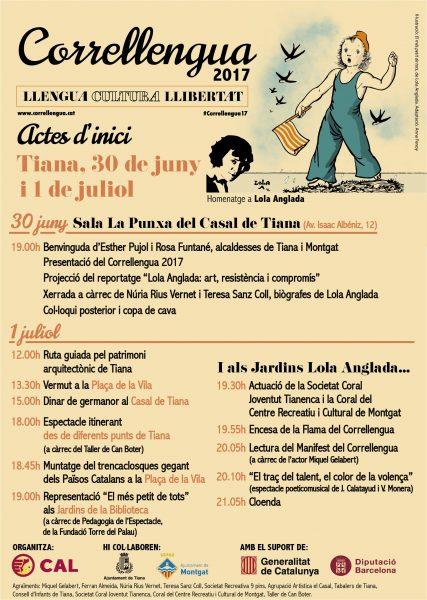 30/06 i 01/07: Correllengua 2017 a Tiana