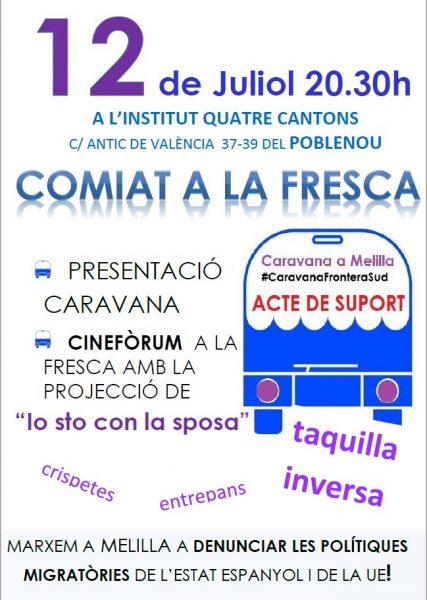 12/07:: Acte de suport  i comiat a la #CaravanaFronteraSud