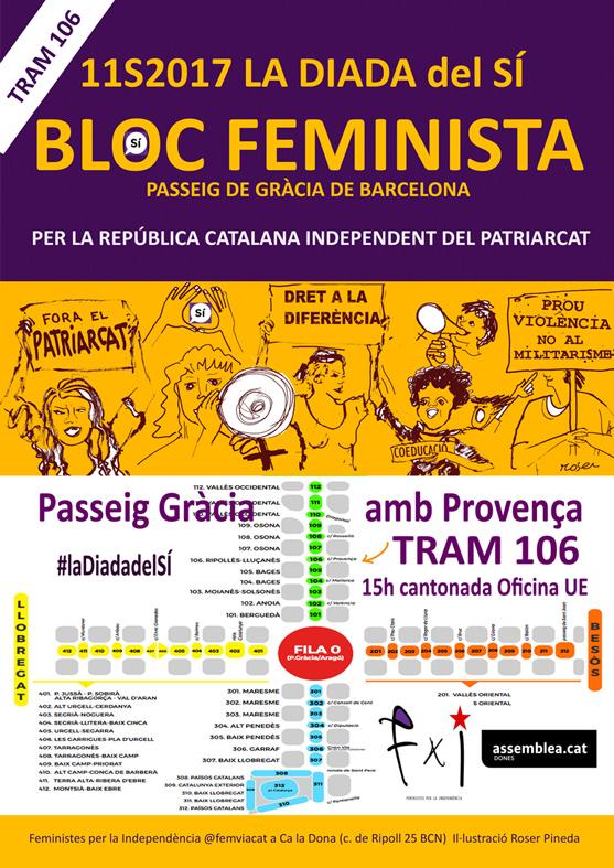 31/08:: Reunió FxI: Bloc Feminista a #LaDialadelsColors 11S Tram 106