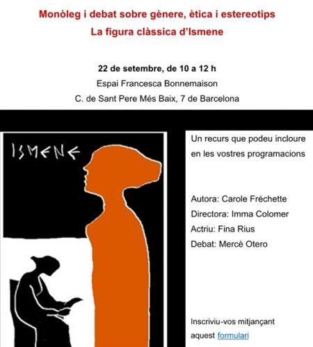 22/09:: Monòleg i debat sobre gènere, ètica i esteriotips