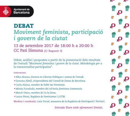 13/09:: Moviment feminista, participació i govern de la ciutat.